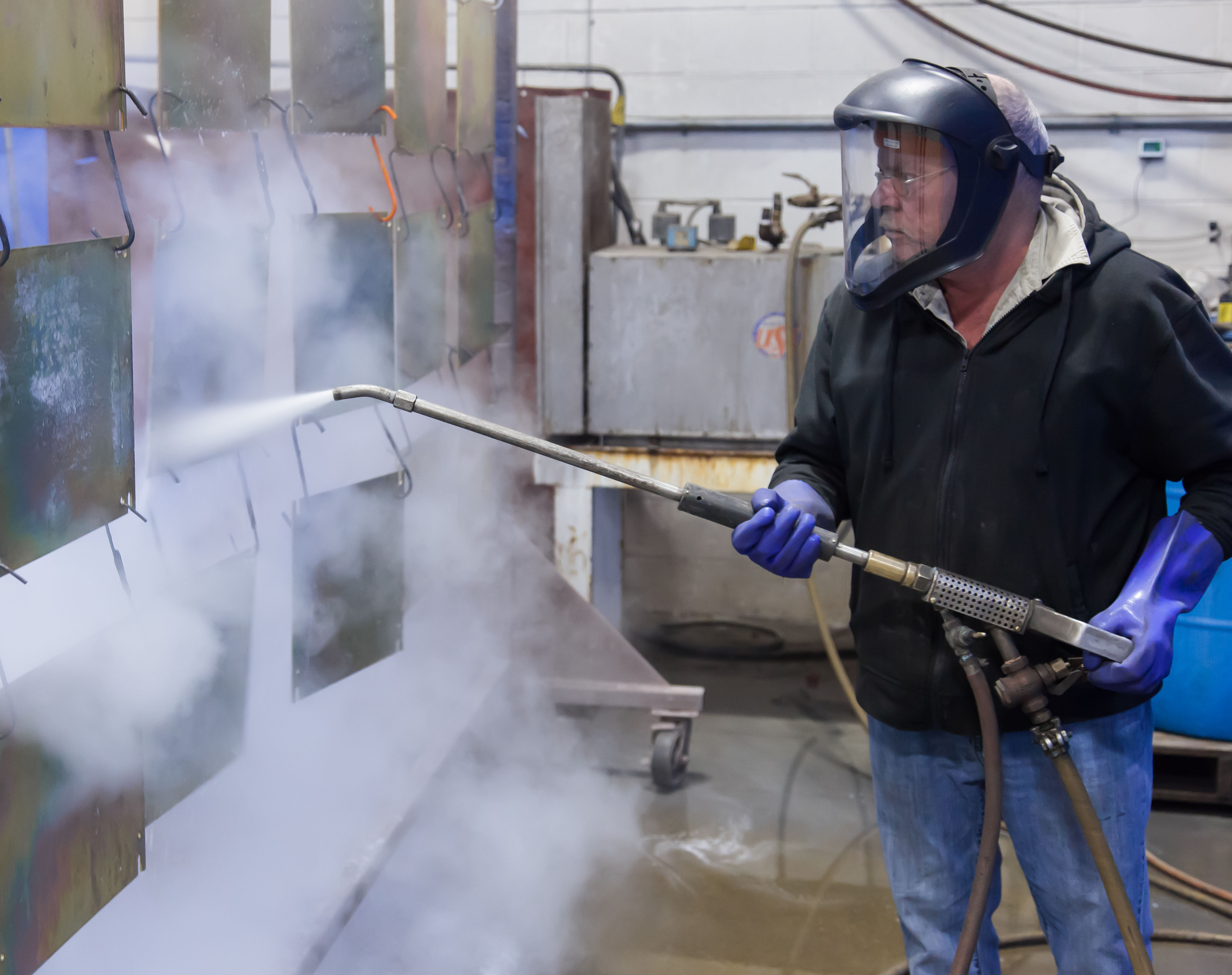 VeriForm uses 300 degree steam cleaning for parts prior to painting resulting in finished paint that is equivalent or better than sandblasting.