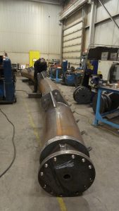 24 inch diameter pipe rolled and welded for large open air structure installation in USA.
