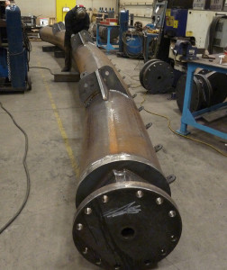 structural rolling metal welded for large open air structure installation in the USA.