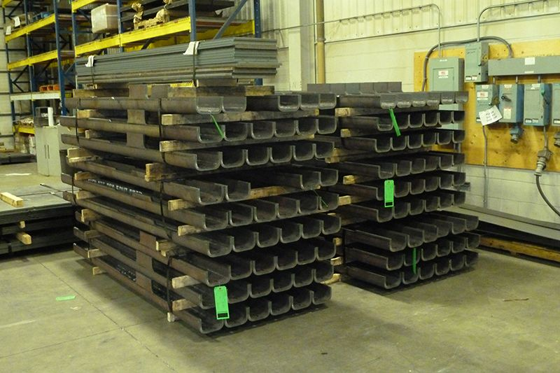 Photo of five eighths thick high strength steel plasma cut, beveled and formed is a good example of the high tonnage deep U bending VeriForm can do for you.