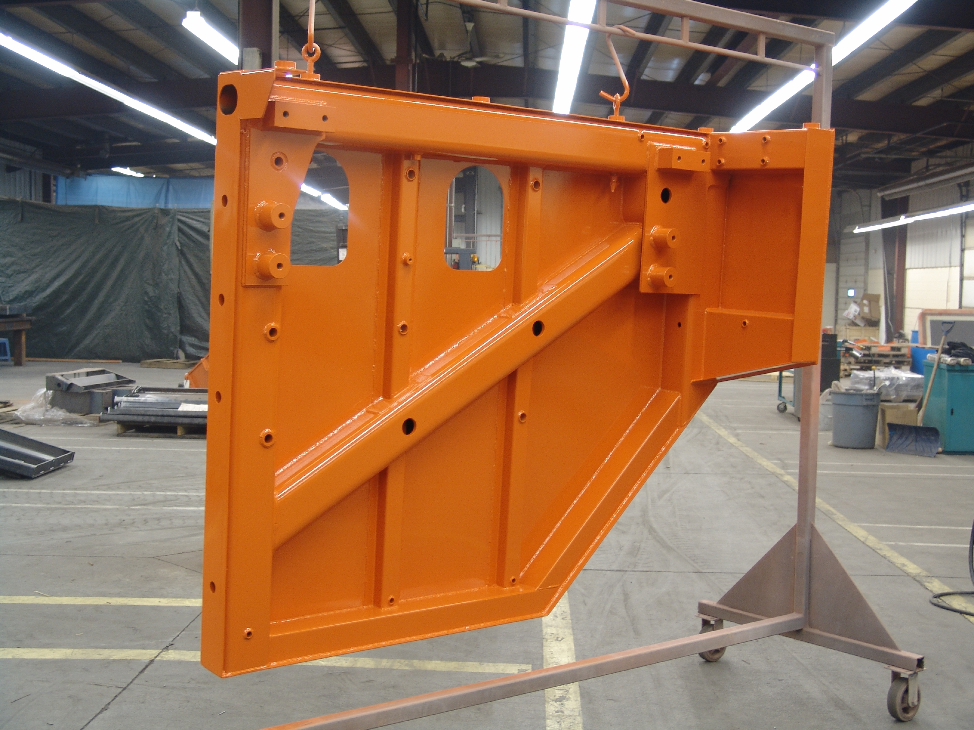 Photo of heavy duty truck platform. This shows our ability to manufacture complex and complete assemblies.