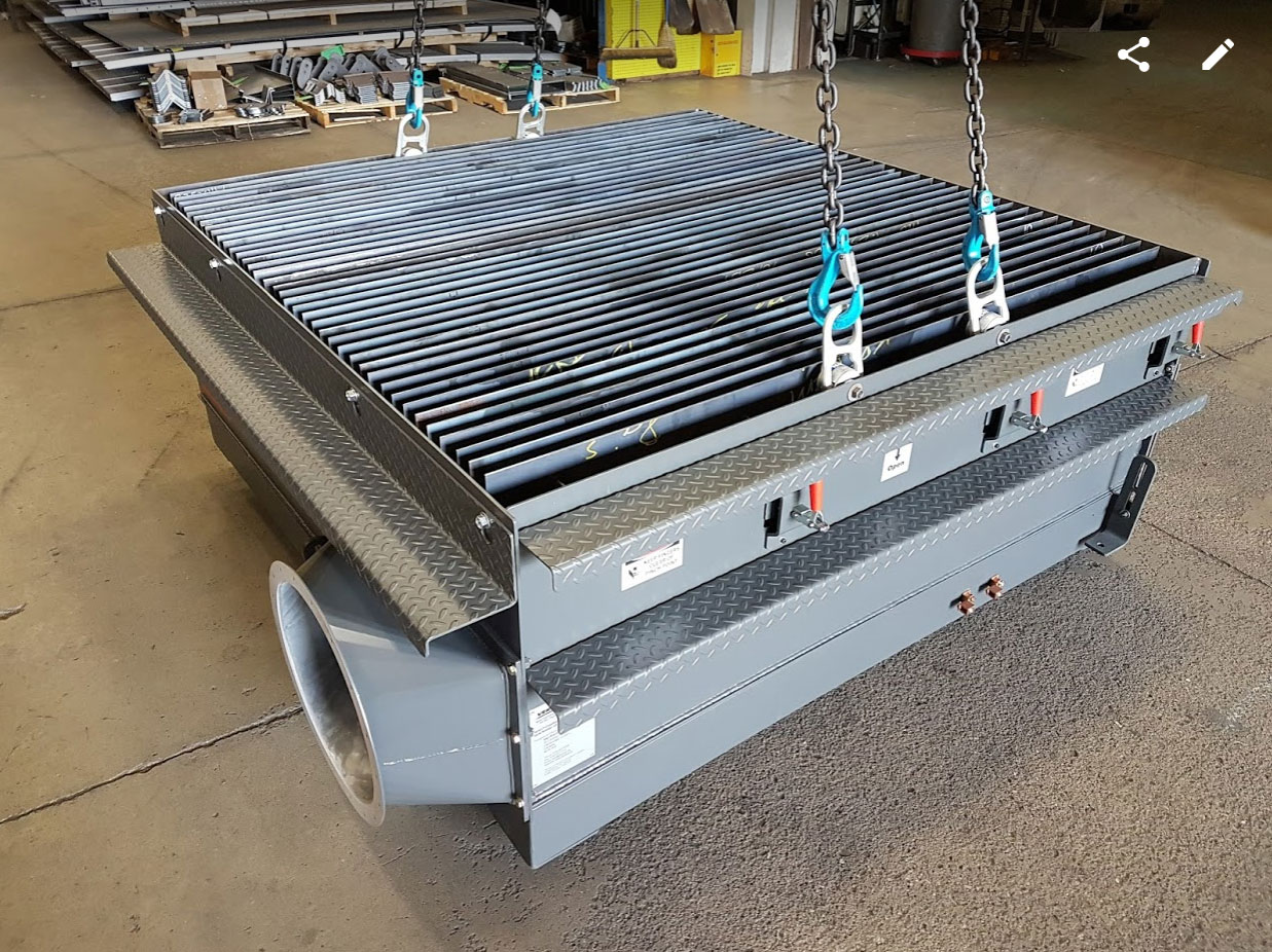 Manual Downdraft mini tables for small shops, special welding, or handheld cutting applications