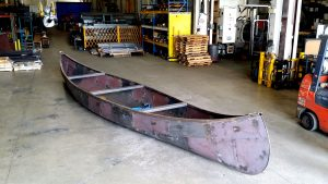 custom fabricated steel canoe