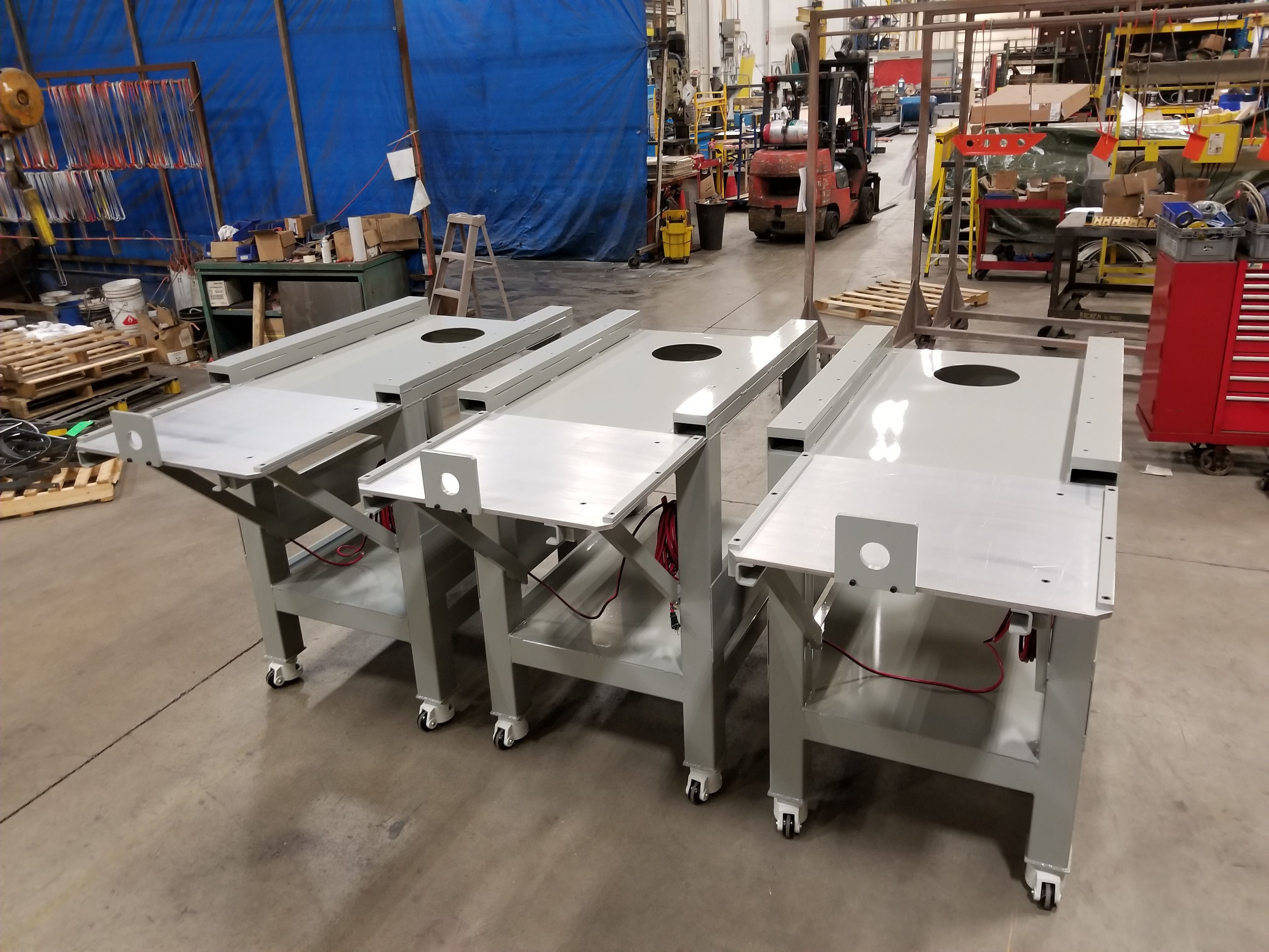 Custom built tables for die change applications
