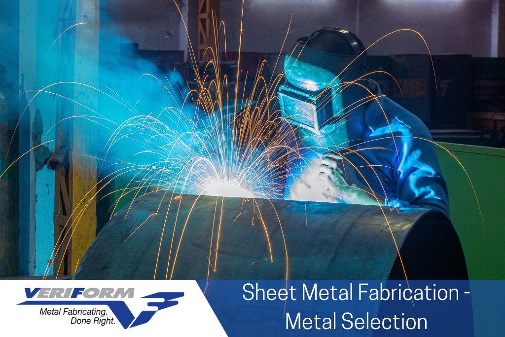 This image features a metal worker for sheet metal fabrication.